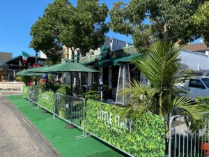 San Diego restaurant with outdoor parklet